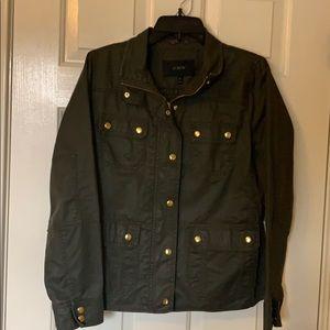Olive green J Crew downtown field jacket